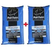 Kit 2 Sacos Ração Poli-nutri CK2 Crescimento para Carpa e Kinguio 15Kg cada