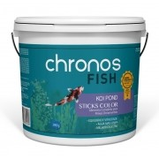 Ração Chronos Fish Koi Pond Sticks Color 3900g Polinutri Carpas