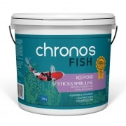Ração Chronos Fish Koi Pond Sticks Spiruline 3900g Polinutri Carpas