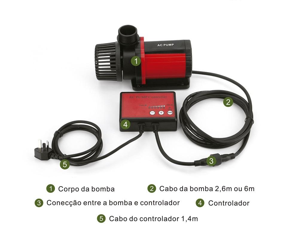 Bomba Submersa Ocean Tech AC Pump 20000 - Com Controle de Vazão Eletrônico