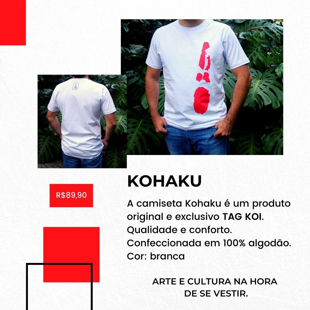 Camiseta Tagkoi  estampa Kohaku linha autoral