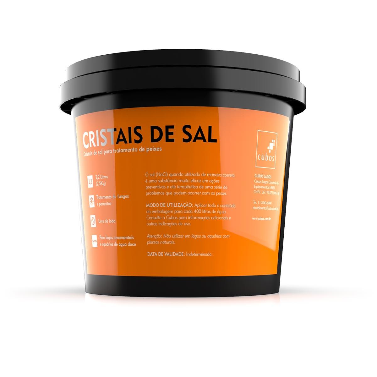 Cristal de Sal Cubos para Tratamento de Peixes Ornamentais
