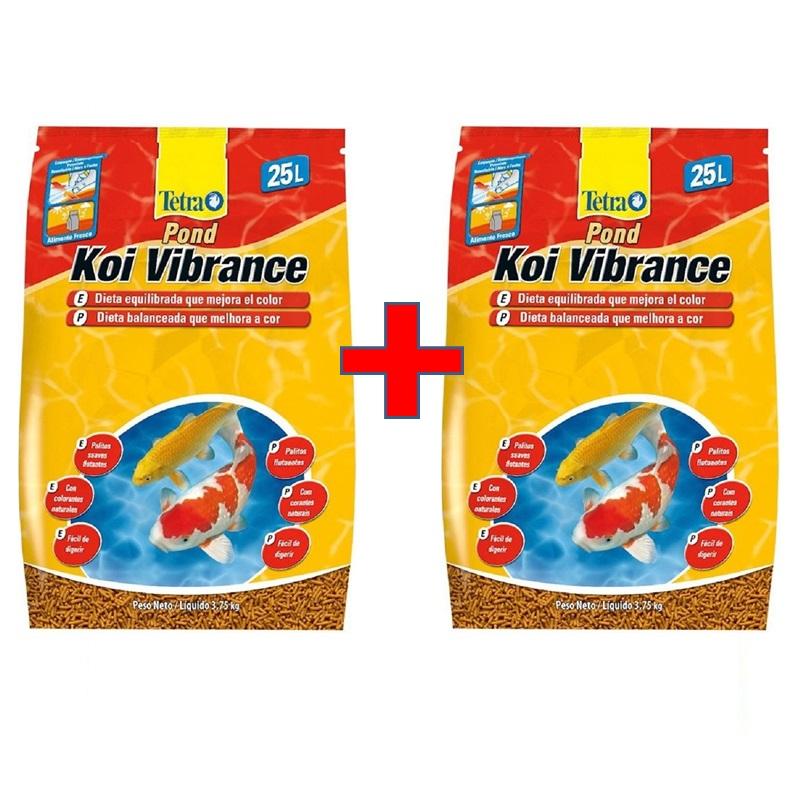 Kit com 2 Sacos de Ração Tetra Koi Vibrance 25L - 3,75Kg