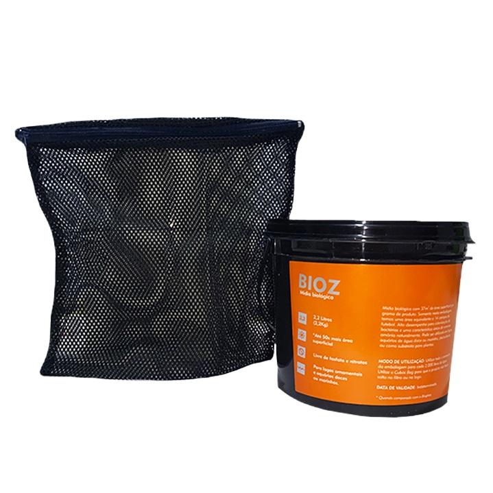 Kit Cubos 2 Baldes de Mídia Bioz 2,2kg mais Bag 25 x 25cm