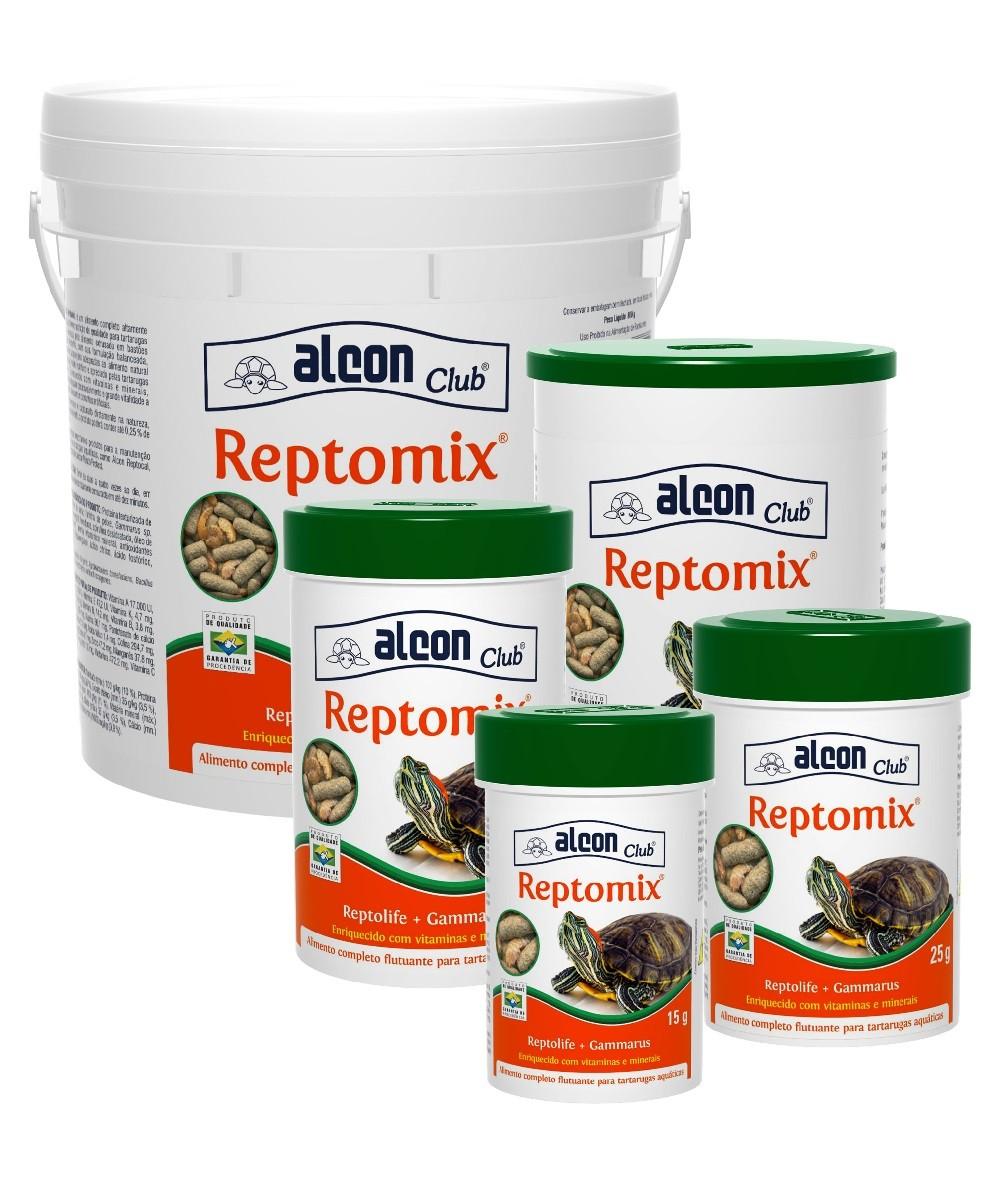 Ração Alcon Club Reptomix 800g - Reptolife + Gammarus para Tartarugas Aquáticas