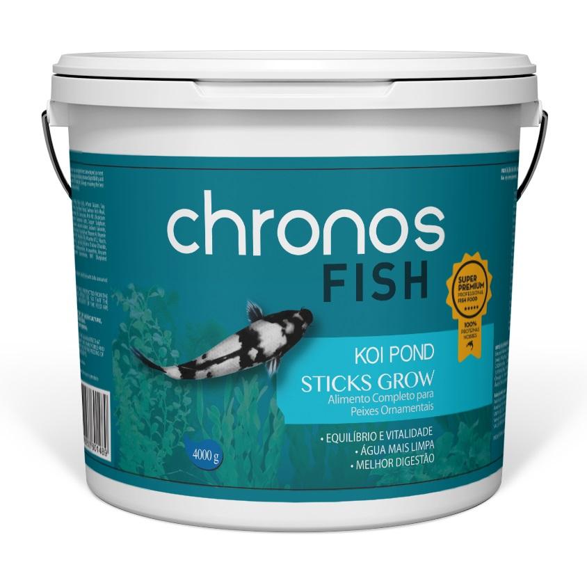 Ração Chronos Fish Koi Pond Grow 4000g + Grow 1300g