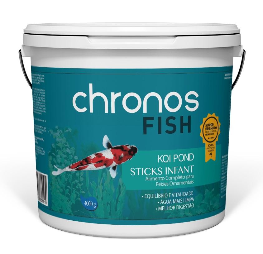 Ração Chronos Fish Koi Pond Infant 4000g + Grow 1300g