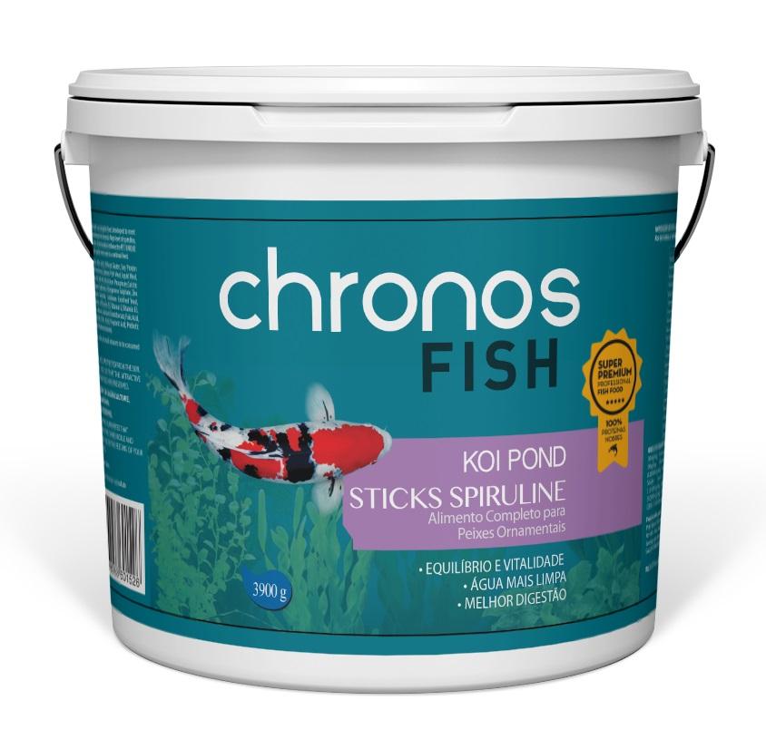 Ração Chronos Fish Koi Pond Spiruline 3900g + Grow 1300g