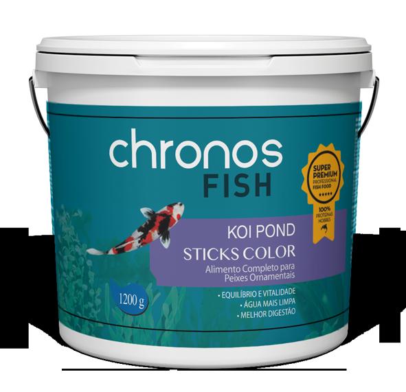 Ração Chronos Fish Koi Pond Sticks Color 1200g Polinutri Carpas
