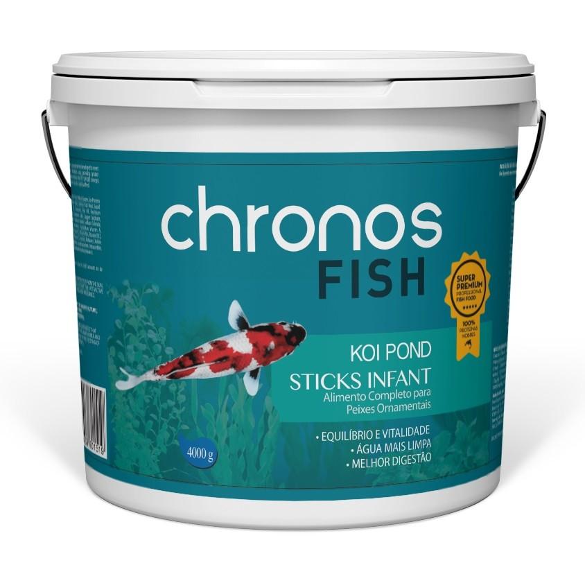 Ração Chronos Fish Koi Pond Sticks Infant 4000g Polinutri Carpas