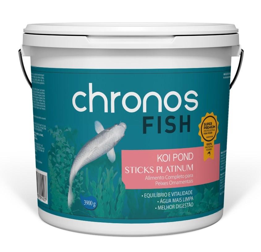 Ração Chronos Fish Koi Pond Sticks Platinum 3900g Polinutri Carpas