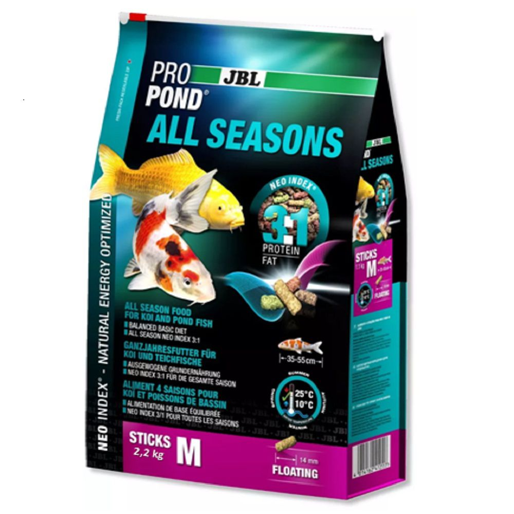 Ração JBL Propond All Seasons M - 2,2Kg Para Carpas
