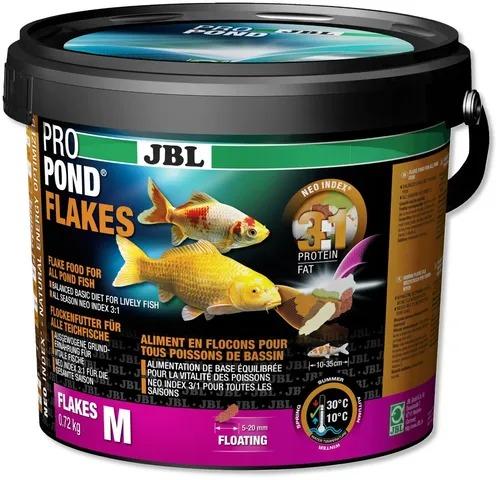 Ração JBL Propond Flakes M - Balde de 720g Flocos