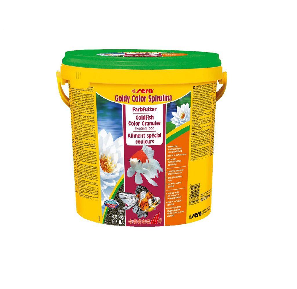 Ração Sera Goldy Color Spirulina para Carpas e Kinguios - 3,8 kg