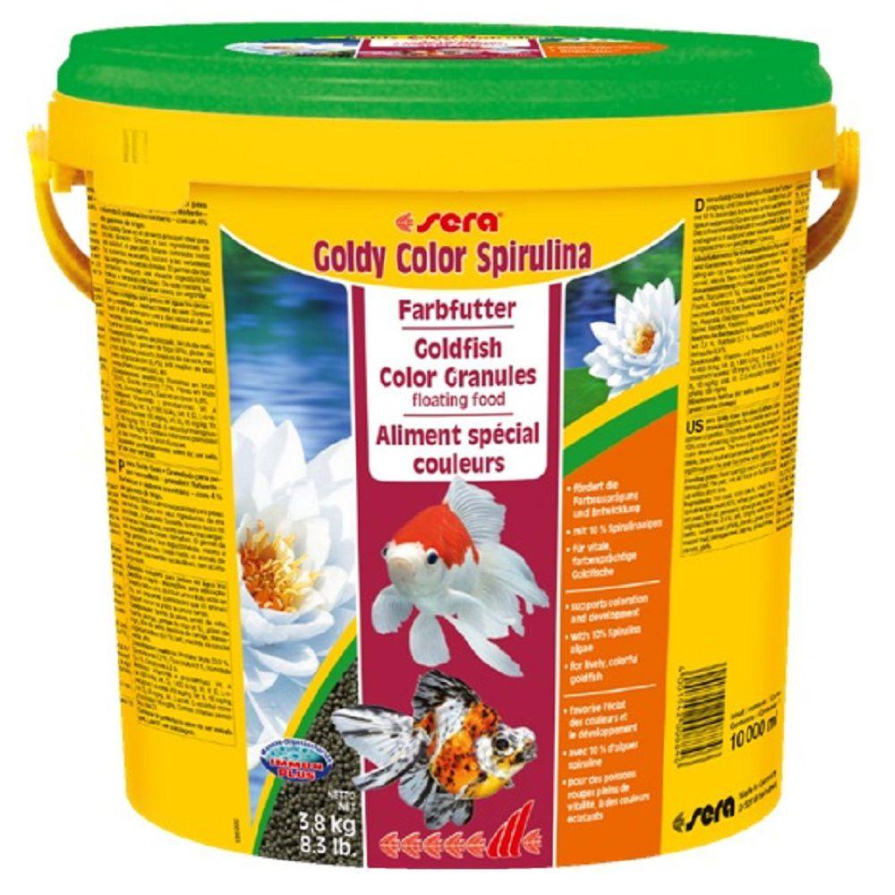 Ração Sera Goldy Color Spirulina para Carpas e Kinguios - 3,8kg