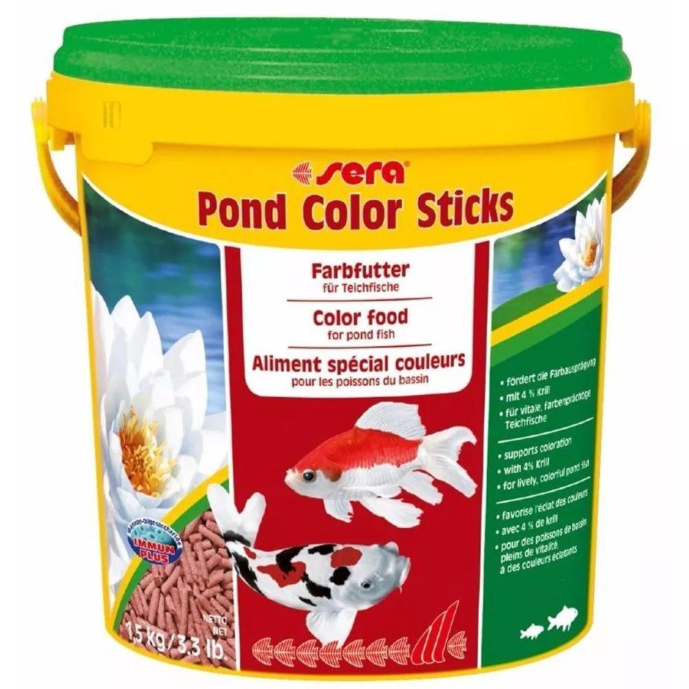 Ração Sera Pond Color Sticks - 1,5kg