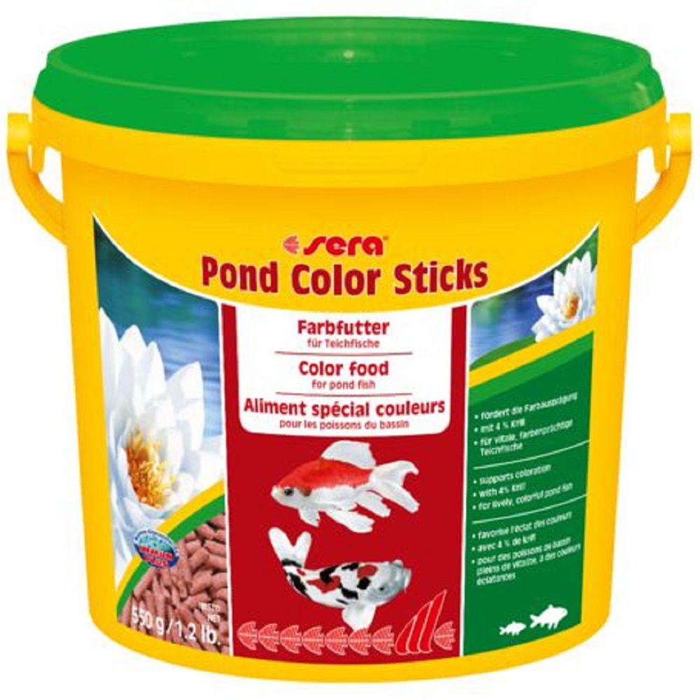 Ração Sera Pond Color Sticks - 550g