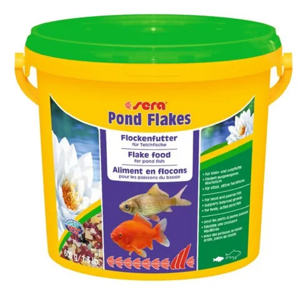Ração Sera Pond Flakes 600g - Todos os Peixes de Lago