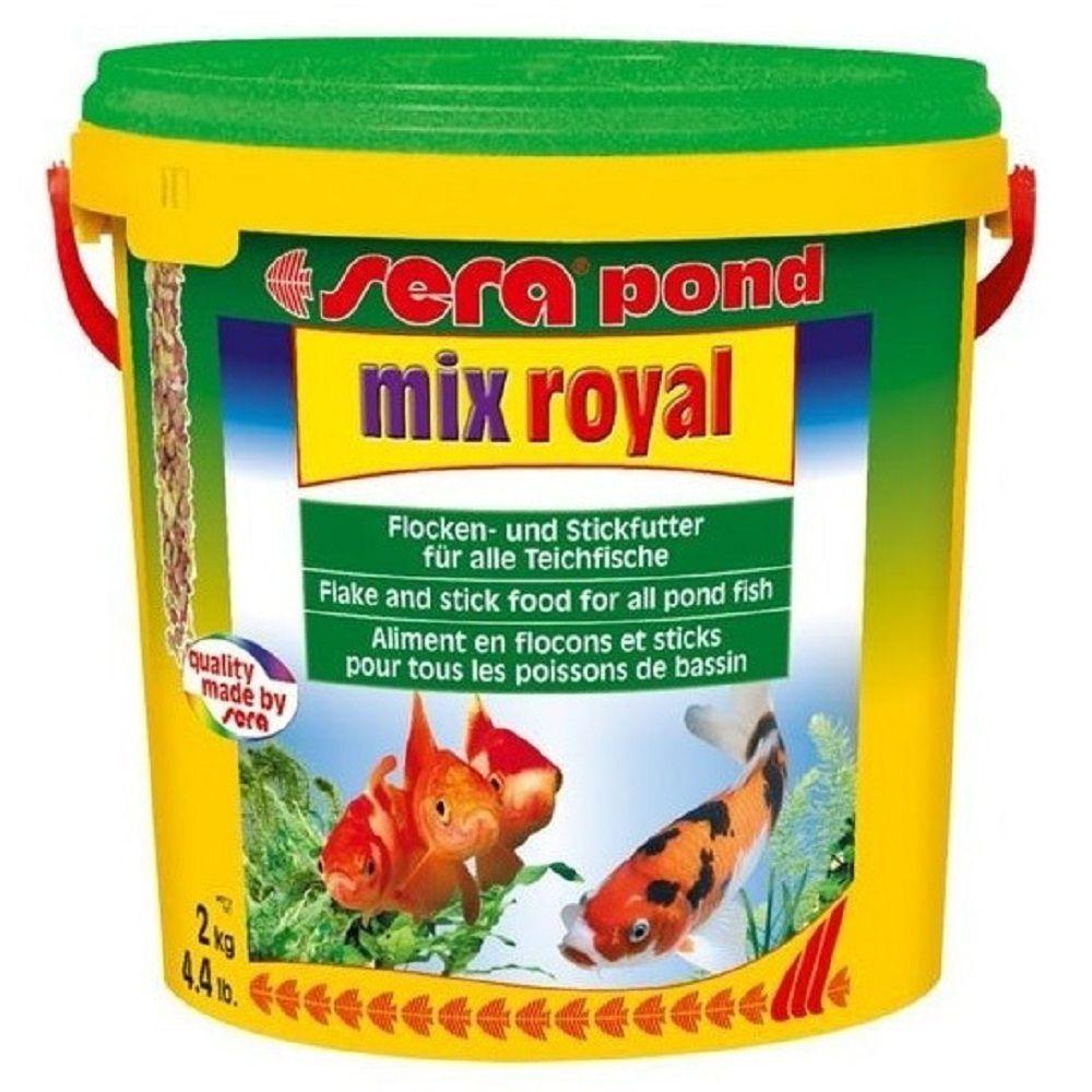 Ração Sera Pond Mix Royal 2kg - Carpas Kinguios Ciclídeos e Demais Peixes