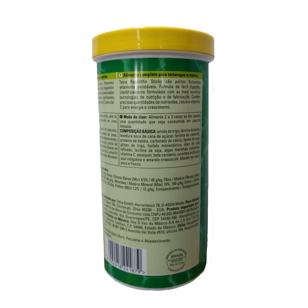 Ração Tetra Reptomin 200g Sticks - Alimento para Tartarugas