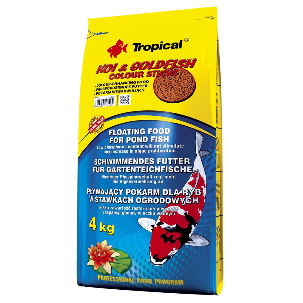 Ração Tropical Koi & Goldfish Colour Sticks 4kg Carpas e Peixes Vermelhos