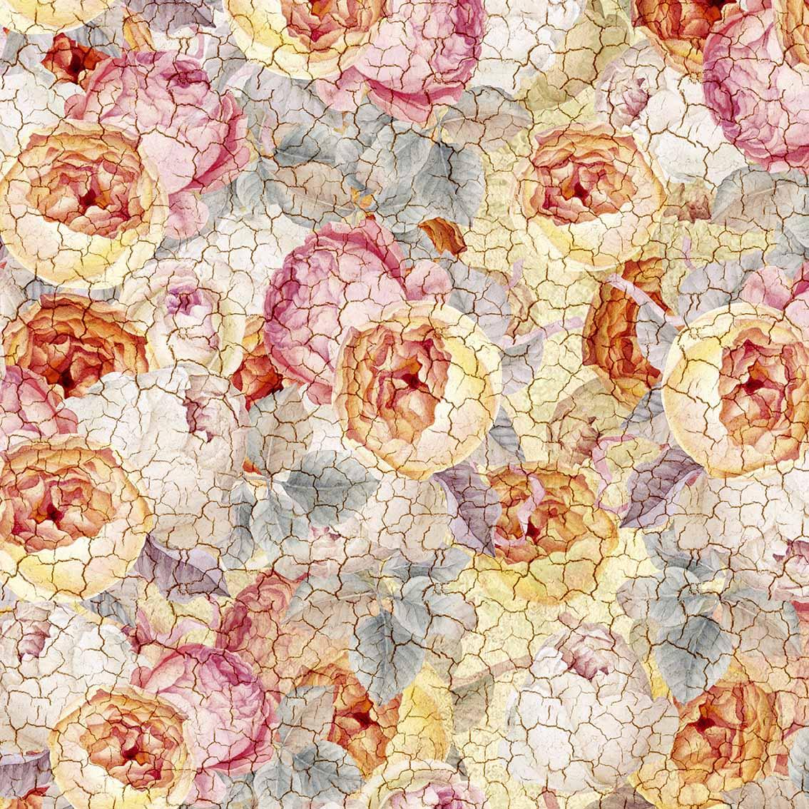 Flores Vintade Pérola (50x150cm)
