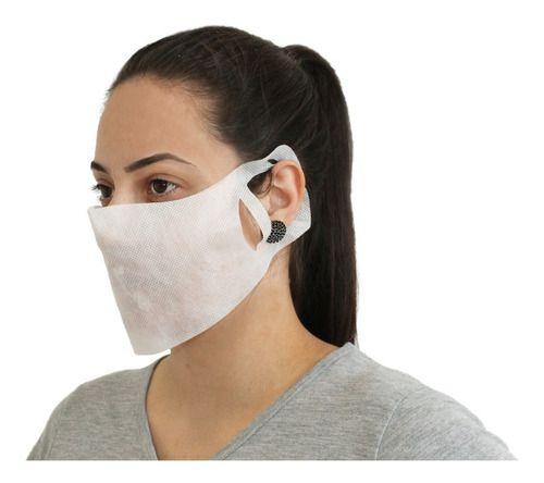 Mascara De Tnt Descartavel C/ Regulagem Pac. Com 50 Unidades