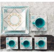 Aparelho de  Jantar E Chá 30 Peças Quartier Domo Oxford Porcelanas