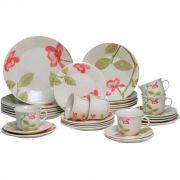 Aparelho Jantar/chá 30 Peças Beauty Oxford Porcelana Biona