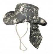 Chapéu Camuflado Com Protetor De Pescoço
