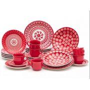 Jogo De Jantar Floreal Renda 30 Peças - Oxford Porcelana