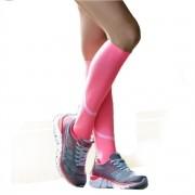 Meia 3/4 Compressão Corrida Atletismo Esportiva rosa feminina
