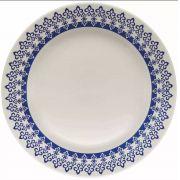 Prato Raso Louça Porcelana Oxford Biona Grécia 24 Cm