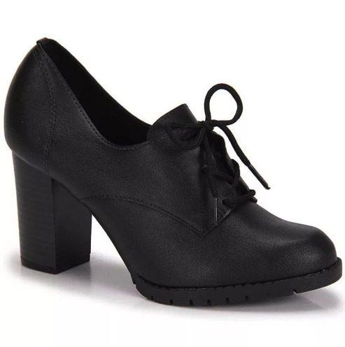 bdf10e0e32 Sapato Oxford Conforto Beira Rio Tratorado - Bao Shop