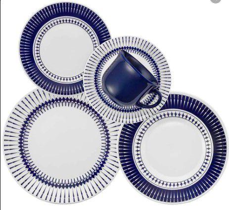 Aparelho Jantar/chá 20 Peças Colb Porcelana Biona