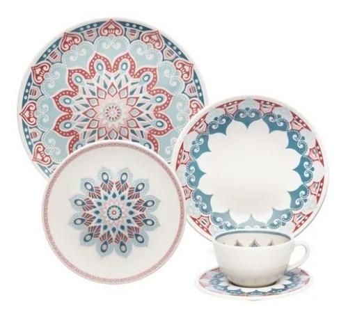Jogo De Jantar 20 Peças Unni Cosmic Oxford Porcelanas