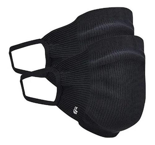 Kit 2 Mascara Lupo Preta Zero Costura Virus Bac-off Adulto