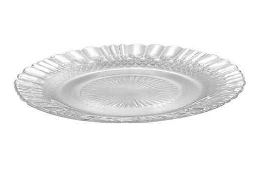 Kit 6 Prato De Vidro Raso Crystal 23cm Transparente