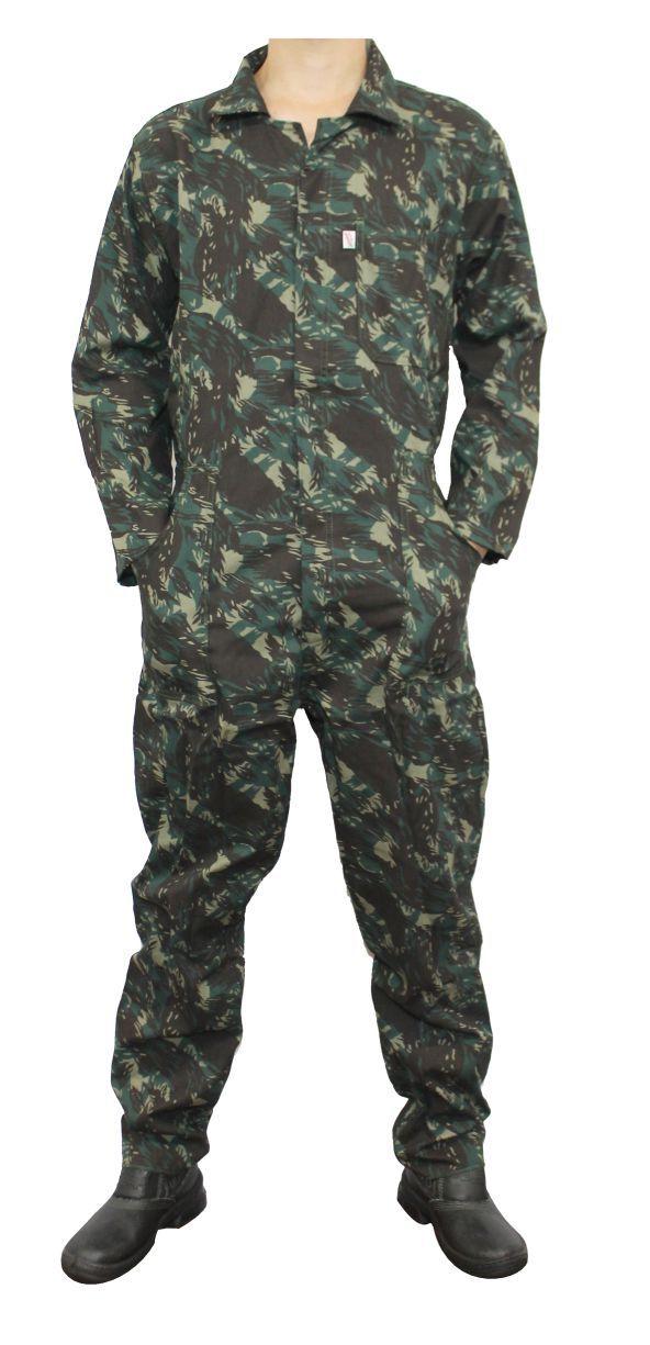 Macacão Camuflado Exército Camuflado Manga Longa