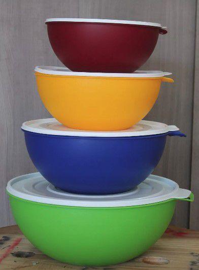 Pote Utility 3,5litros Bacia Colorida Cozinha multiuso