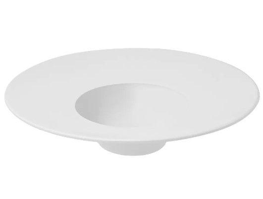 Prato Oxford Porcelana Branca P/ Entrada 30cm Chapéu