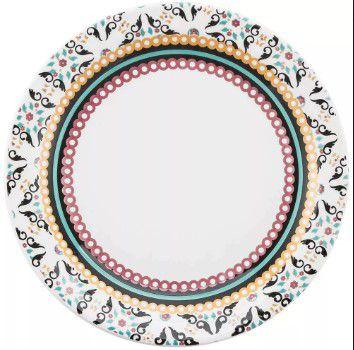 Prato Raso Floreal Luiza-oxford Daily Diverso Porcelana 26cm