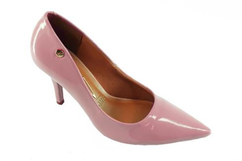 f4ce5b75dc Sapato Scarpin Rosa Verniz S. Medio Vizzano Festa - Bao Shop ...