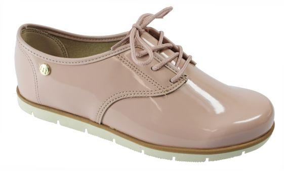 cc91402892 Sapato Tênis Oxford Verniz Preto e rosa Original Moleca - Bao Shop