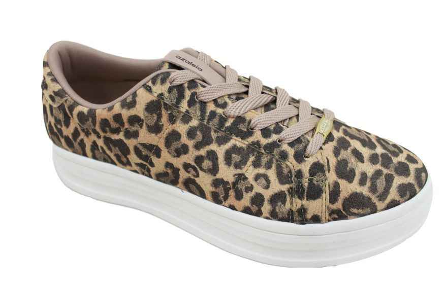 Tênis Casual Animal Print Azaleia