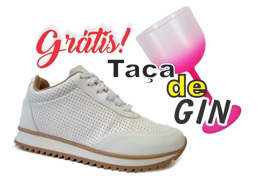 Tênis Feminino Casual Branco Vizzano