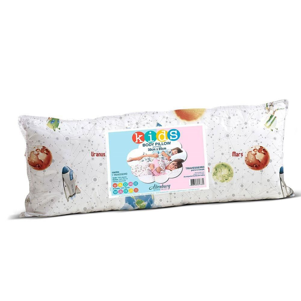 Travesseiro Body Pillow Kids Bebe Estampado Menino 30x65
