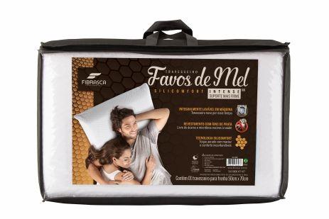 Travesseiro Favos De Mel Intense Suporte Mais Firme-fibrasca