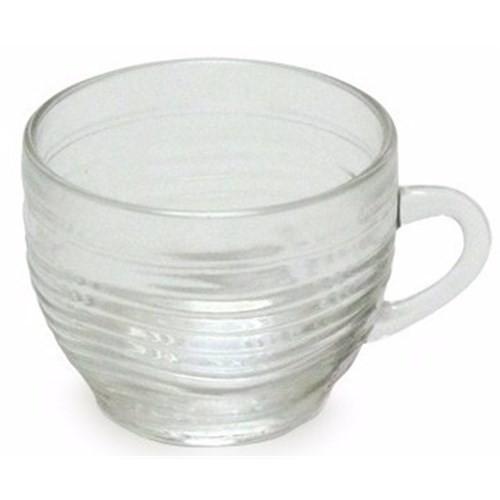 Xícara Chá Crystal 350 Ml Vidro Caneca Café Retro