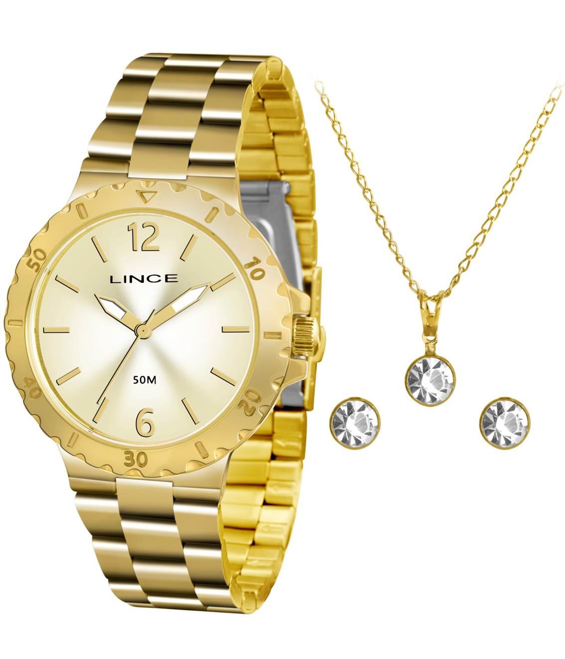 453b3a0eef3 Relógio Lince Feminino Kit LRGH036L KT96C2KX Semijoias